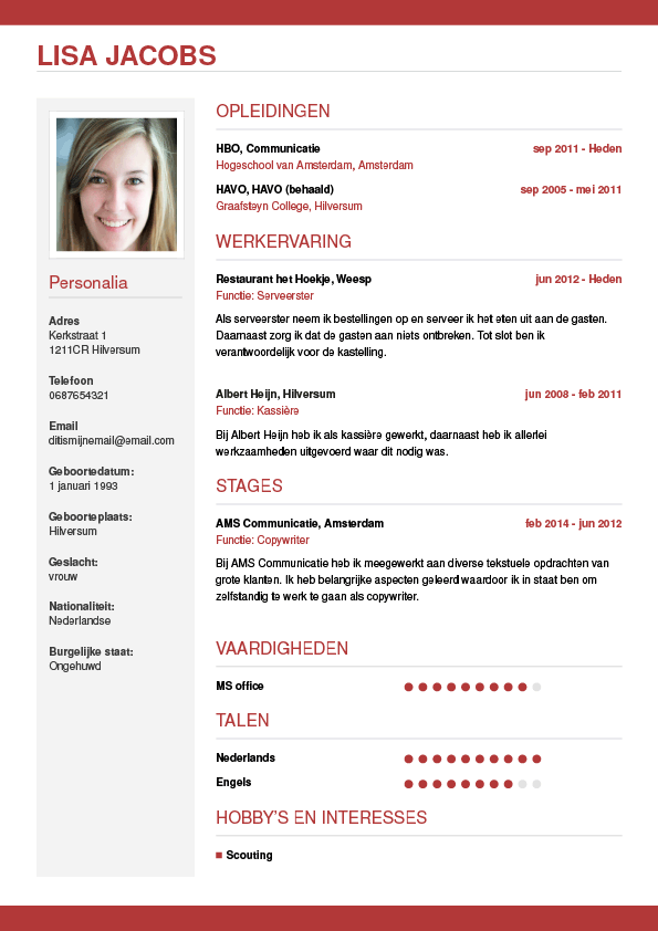 CV maken? In 3 stappen je Curriculum Vitae downloaden!