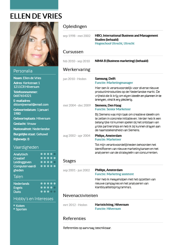 Cv Maken In 3 Stappen Je Curriculum Vitae Downloaden
